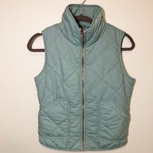 Peach Love - Seafoam Green Quilted Vest Sz. S